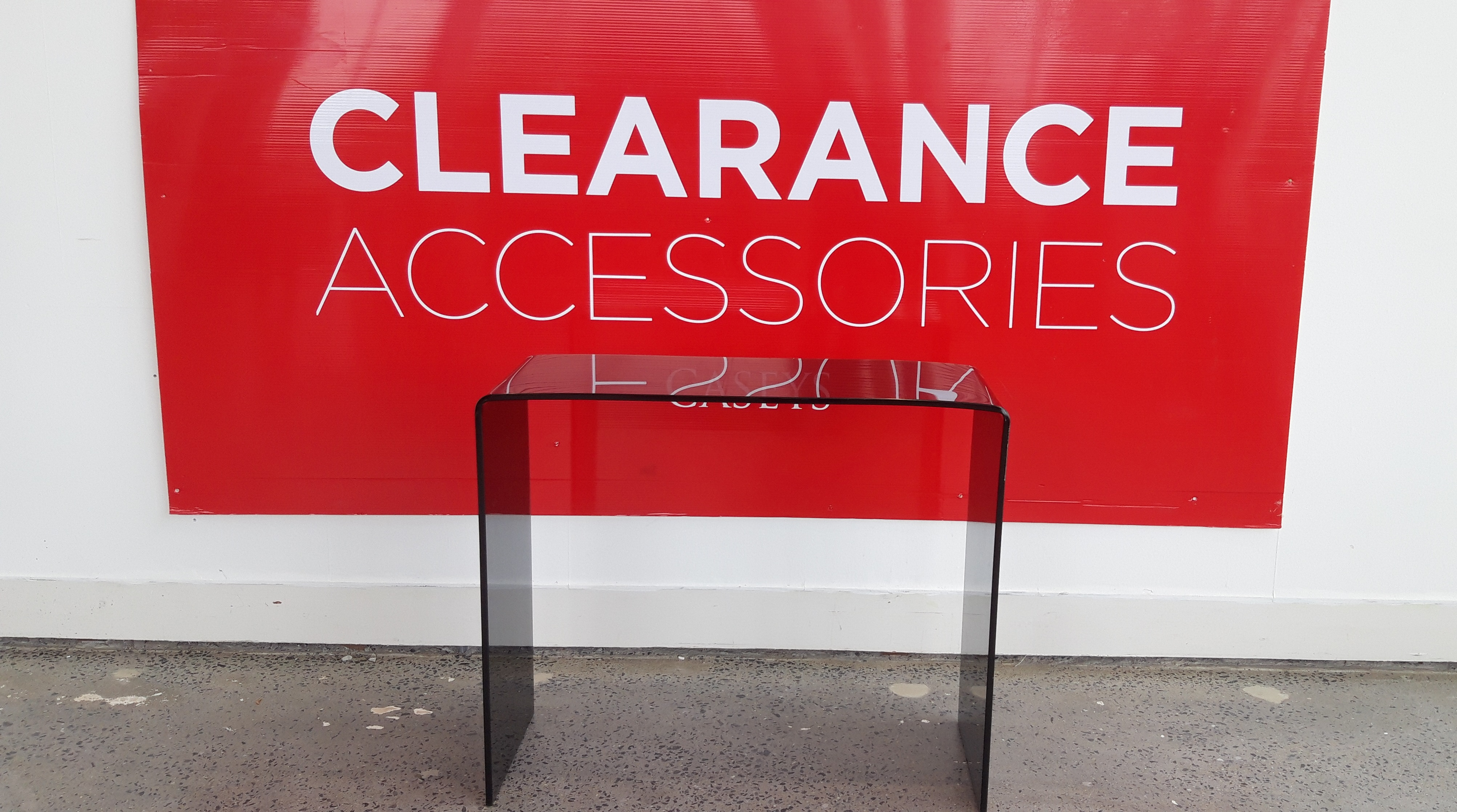 Tinted Glass Console Table - OUTLET
