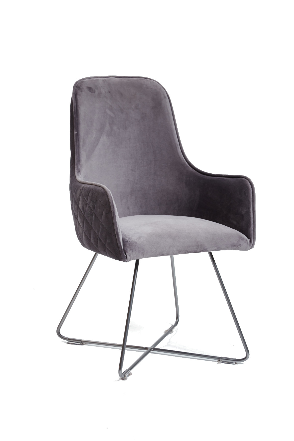 Utah Dining Chair - Plush Steel