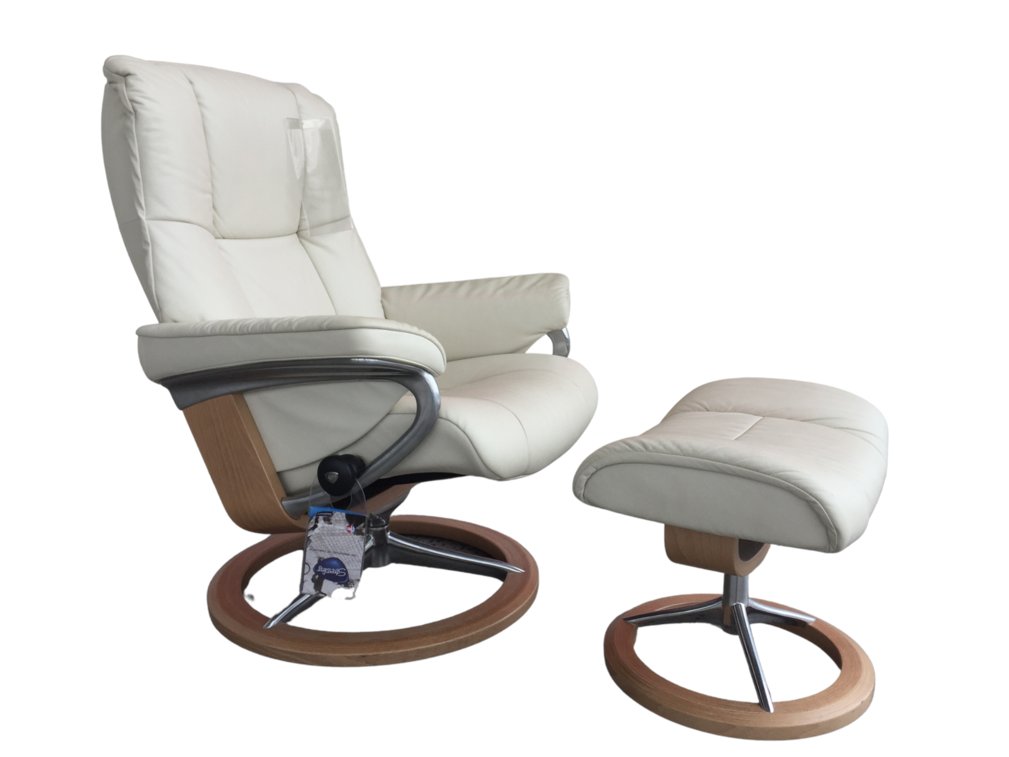 Stressless Mayfair Signature Chair w/ Footstool-OUTLET