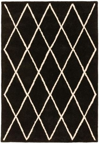 Albany Diamond Rug - Black