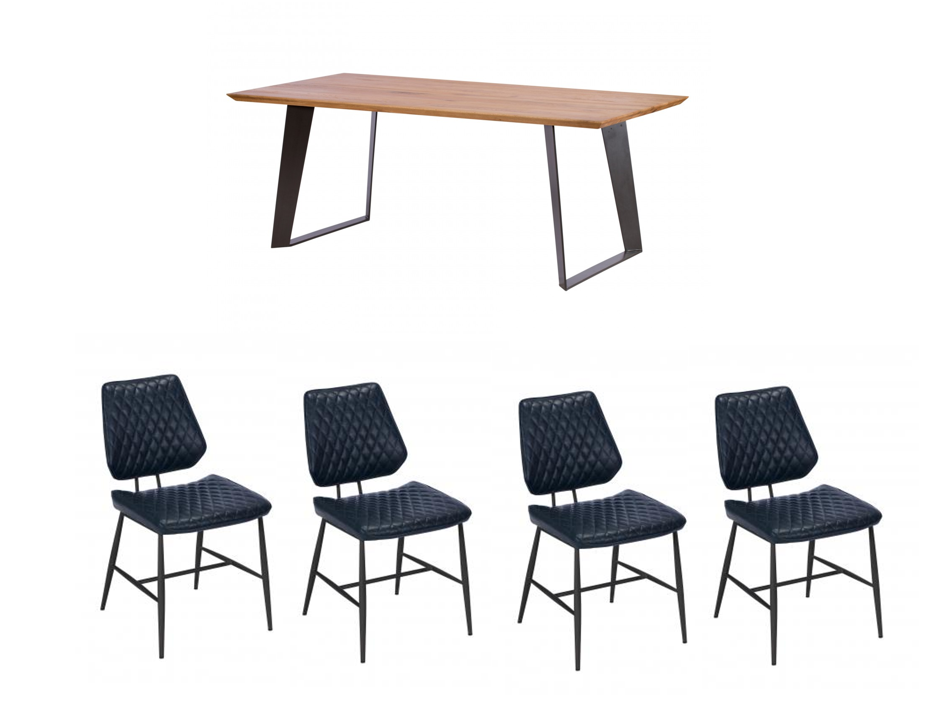 Hatton Dining Table + 4 chairs