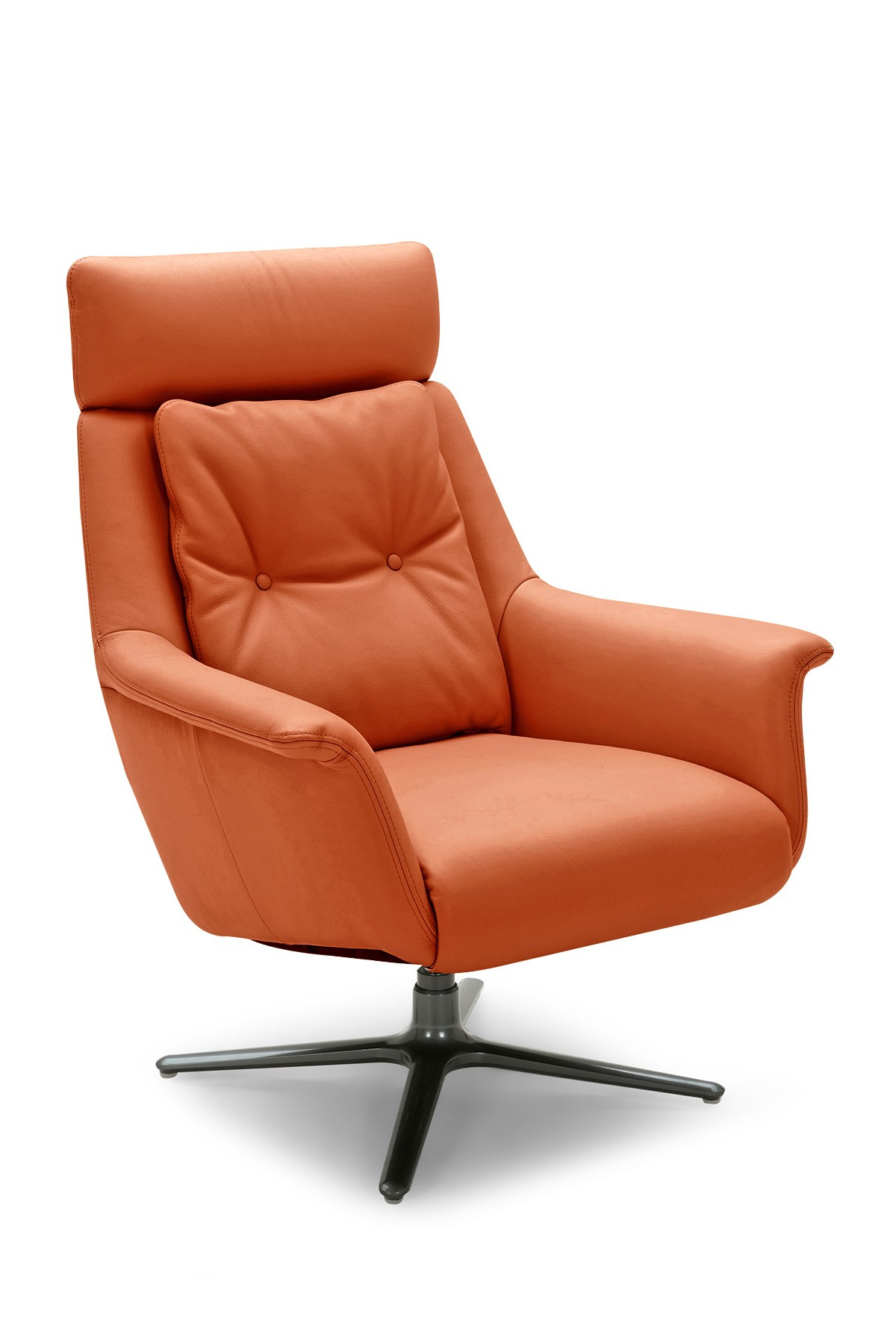 Nadia Swivel Chair  - Burnt Orange