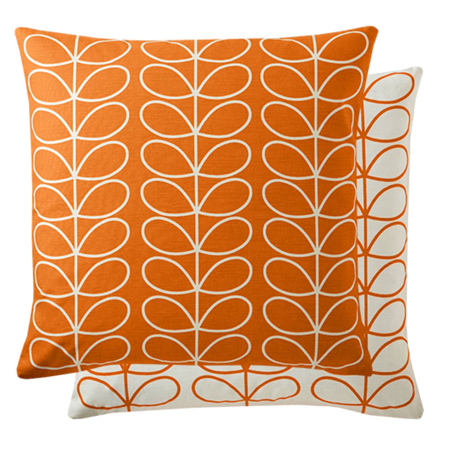 Small Linear Stem Cushion - Persimmon