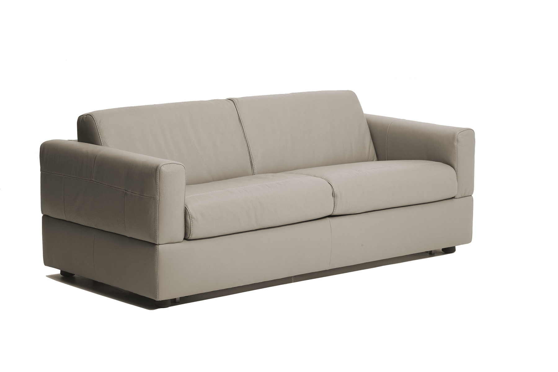 Visconti Leather Sofa Bed - Dark Grey