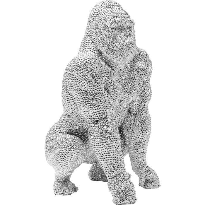 Silver Gorilla Figurine