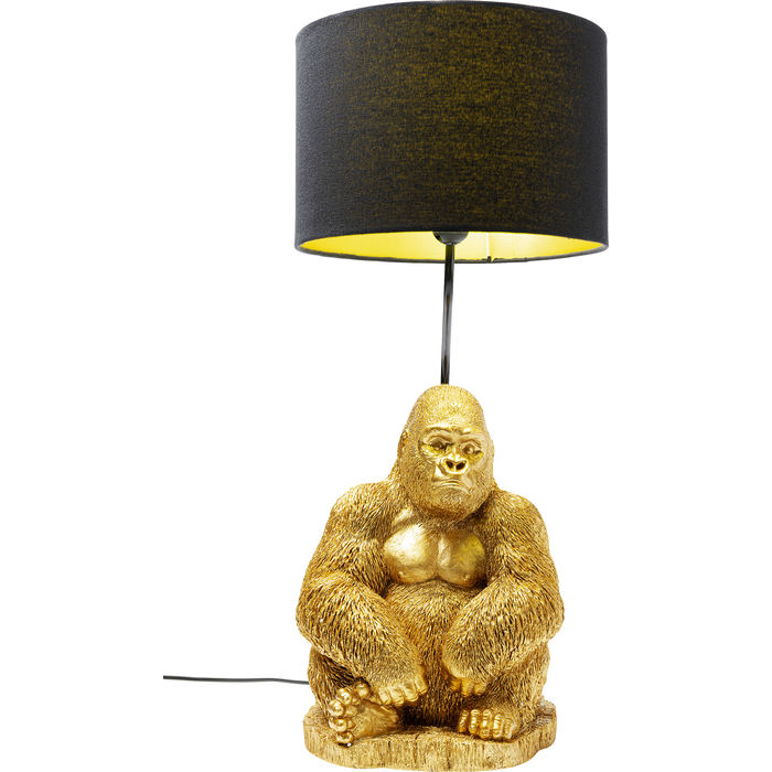 Gold Gorilla Table Lamp