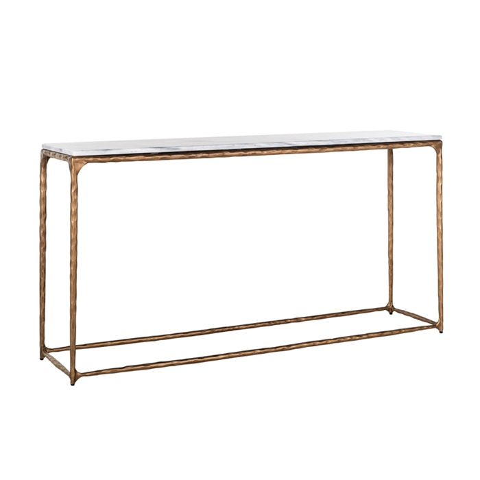 Steel Smith Brass Console Table