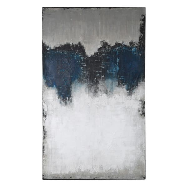 Extra Large Abstract Blue and White Canvas