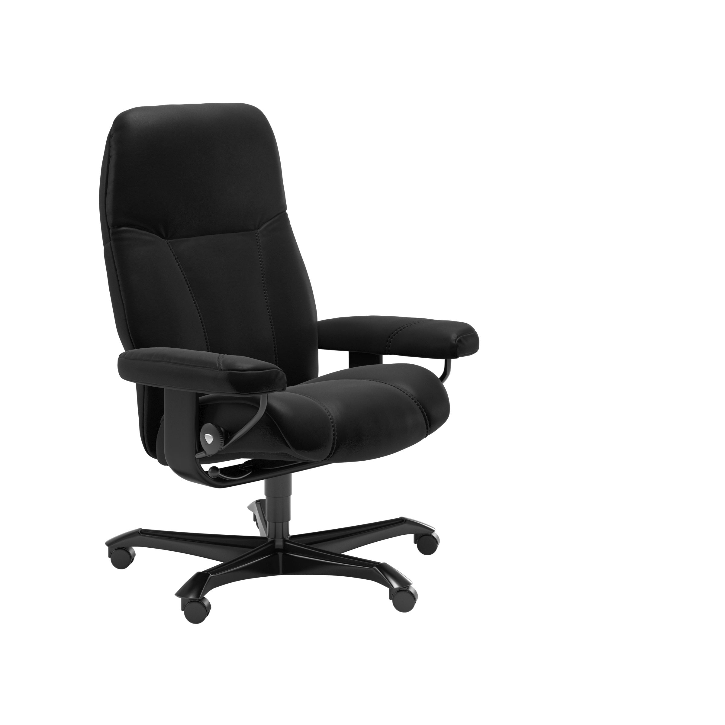Stressless Consul Black Medium Office Chair
