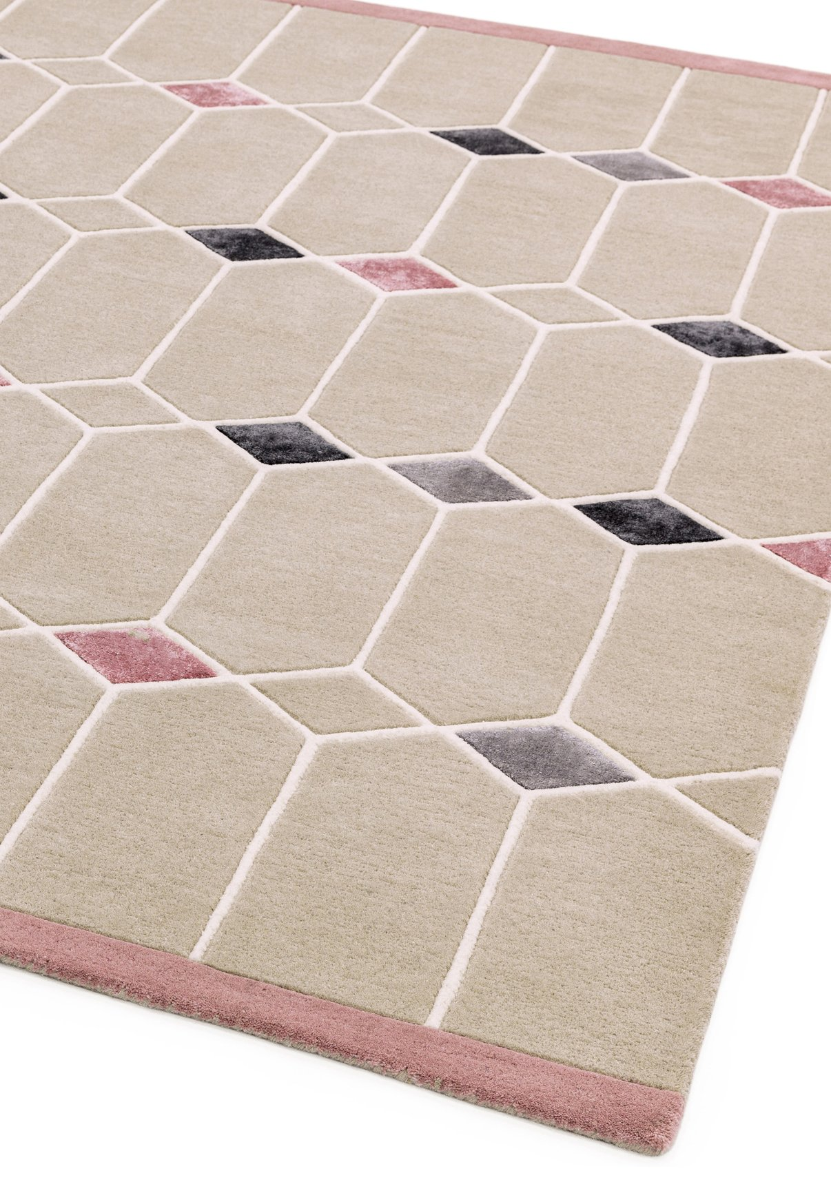Matrix Rug Jewel Pink