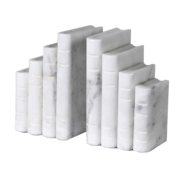 Marble Book Style Bookends