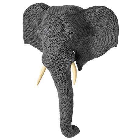 Deco Knitted Elephant Head