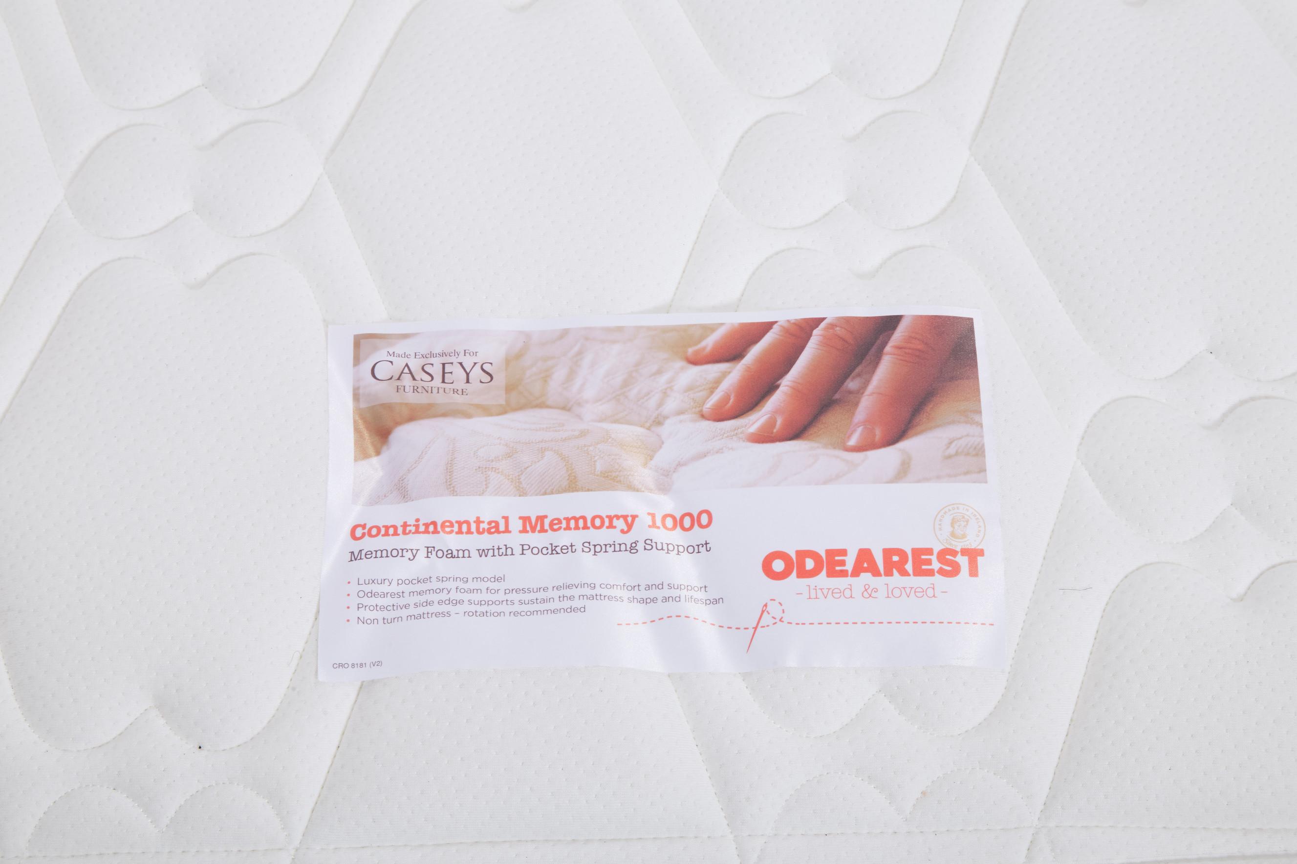 Odearest Caseys Continental Memory 1000 Mattress