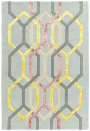Matrix Rug Hexagon Silver