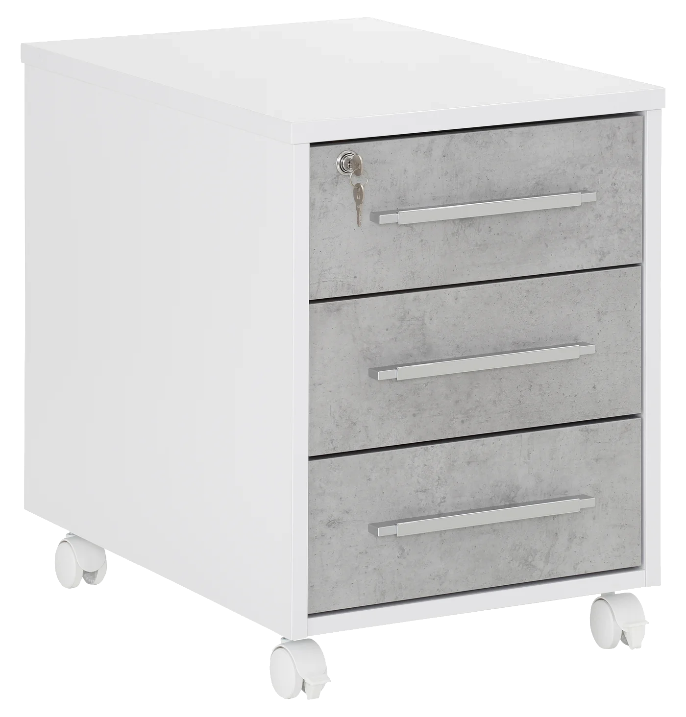 Office Mobile 3 Drawer Icy White