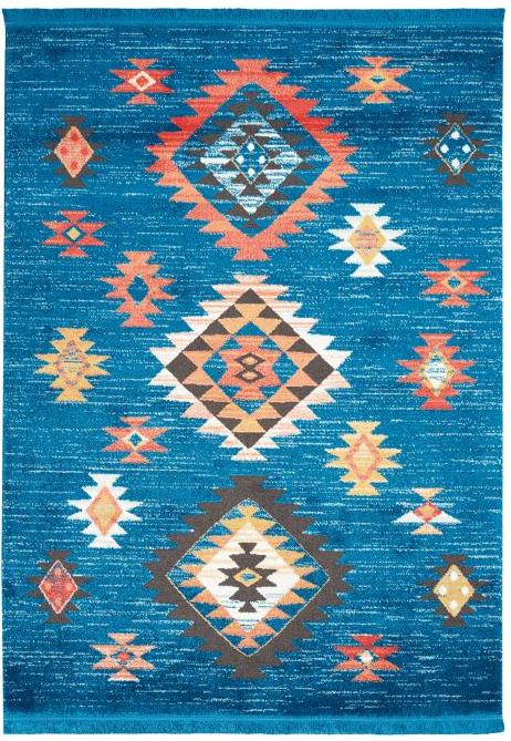 Navajo Rug NAV07 Blue