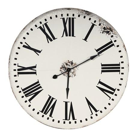 Large Vintage Wall Clock (White)