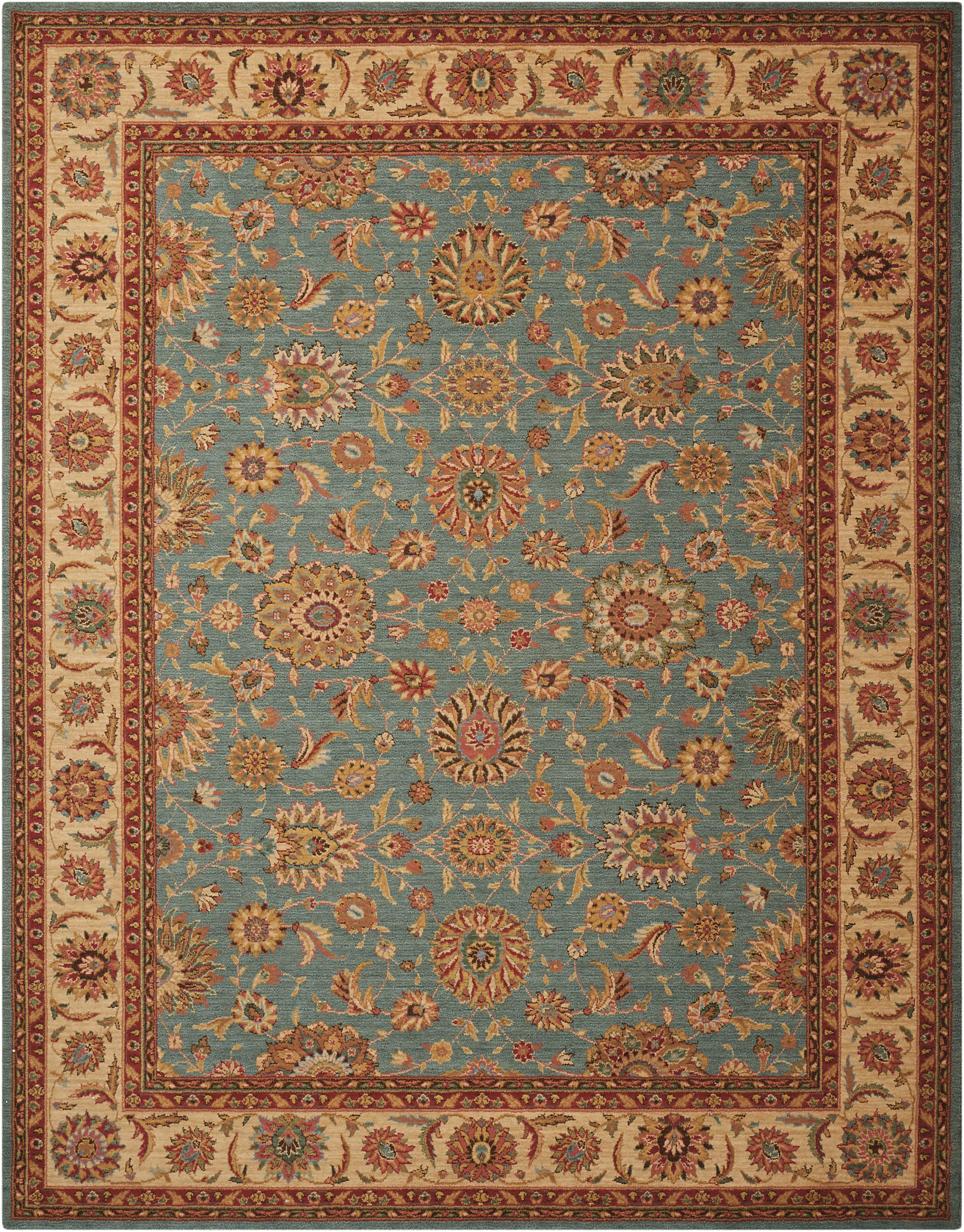 Living Treasures Rug LI05 Aqua