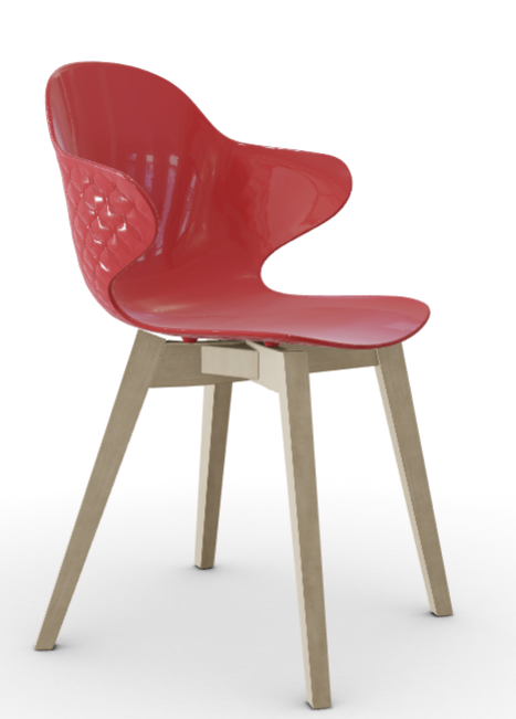 Calligaris St. Tropez Dining Chair - Oxide Red