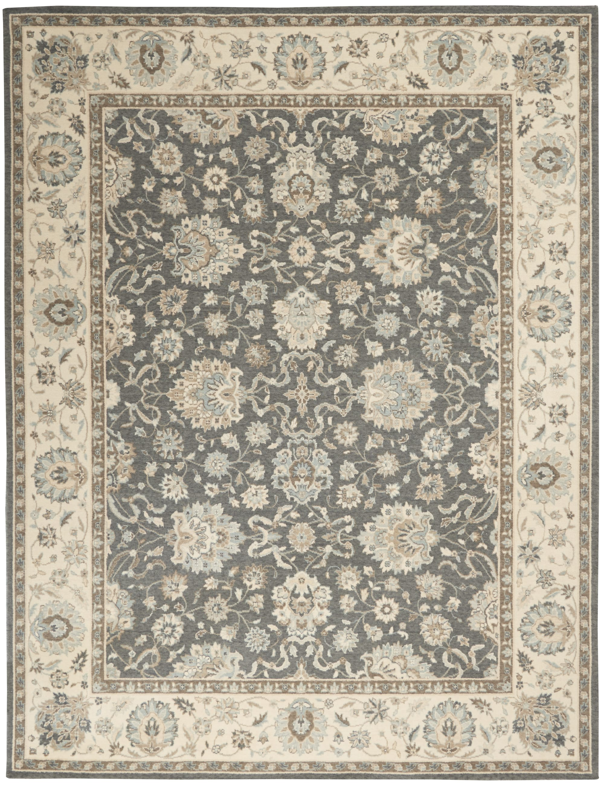 Living Treasures Rug LI16 Grey/Ivory