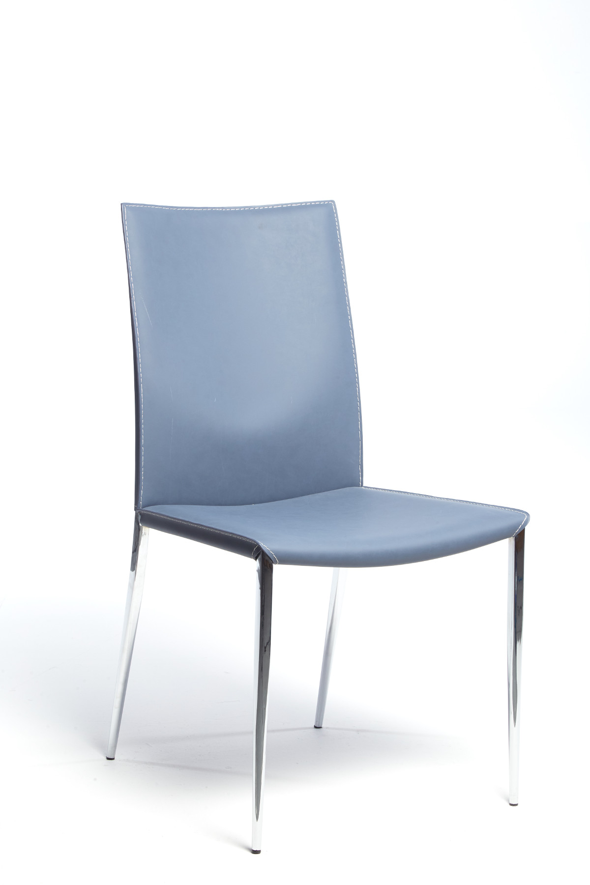 Maxsoft Blue Leather Chair
