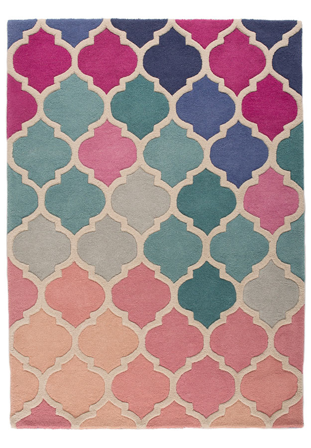 Illusion Rosella Rug Pink/Blue
