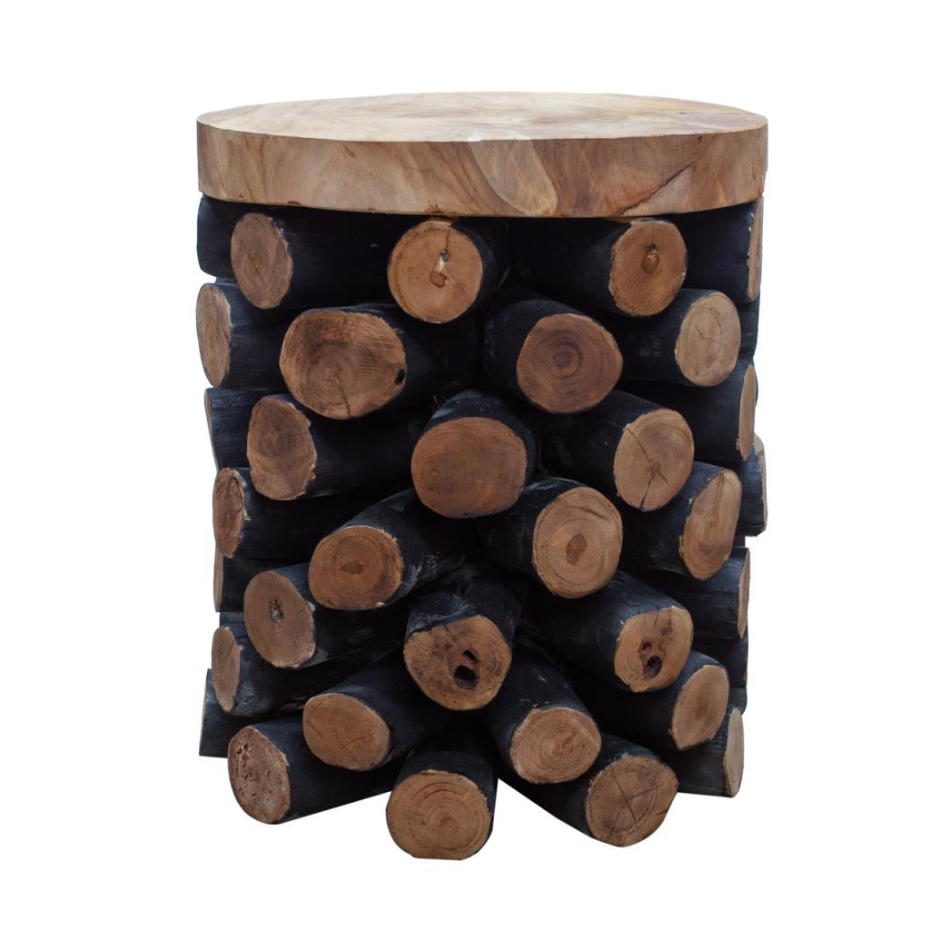 Teak Pineapple Stool