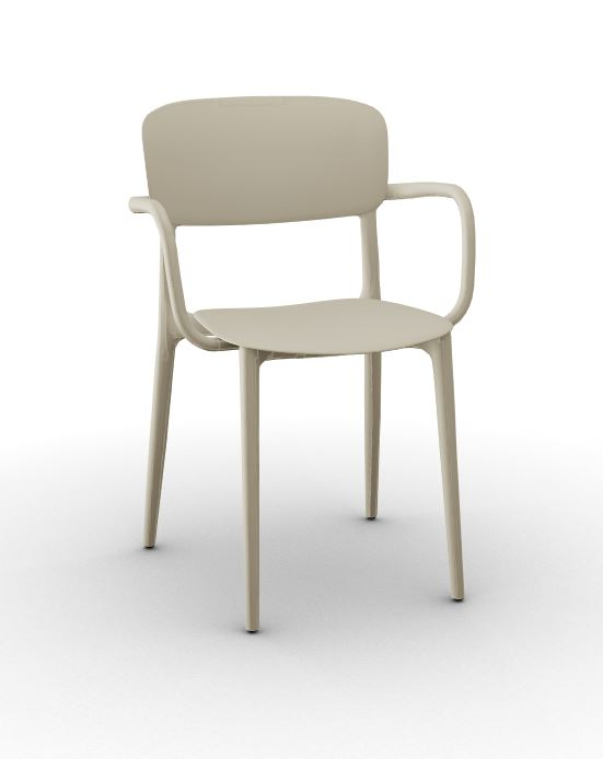 Calligaris Liberty Arm Chair - Matt Hemp