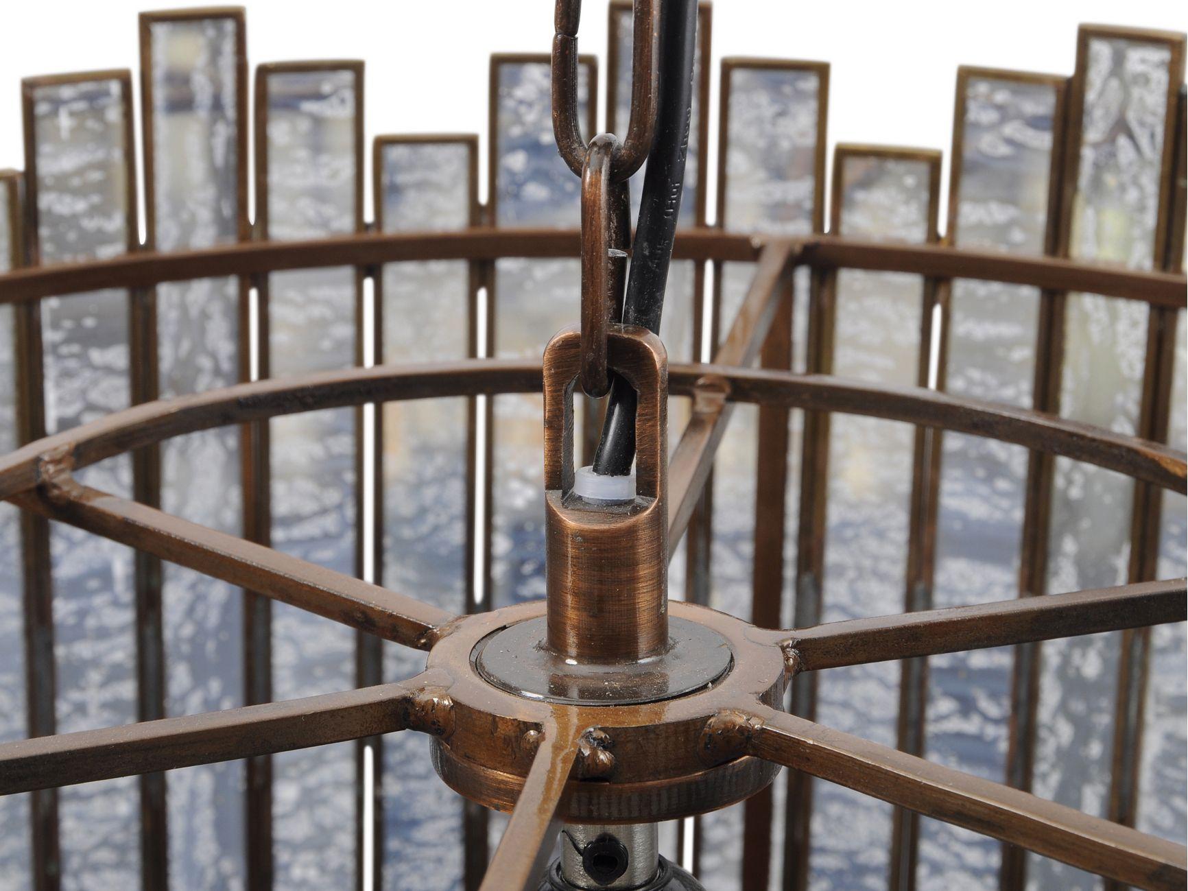 Antique Mercury Glass Pendant