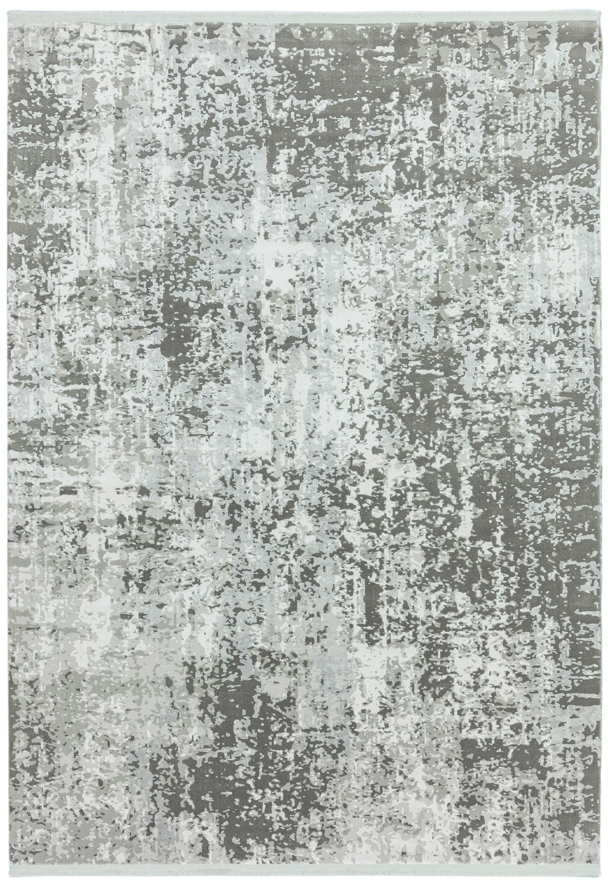 Olympia Rug OL07 Silver Grey Abstract