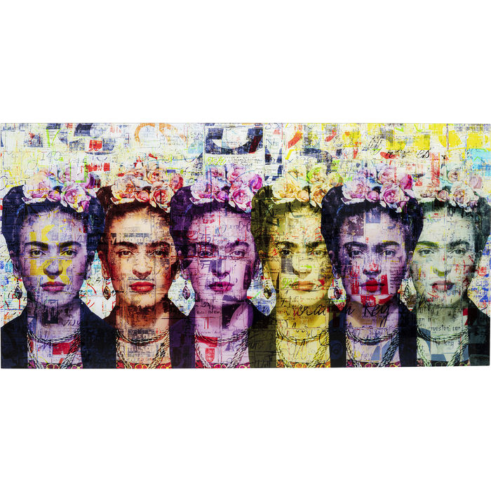 Frida Love Glass Picture