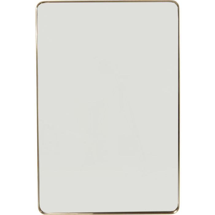 Brass Rectangular Curve Mirror