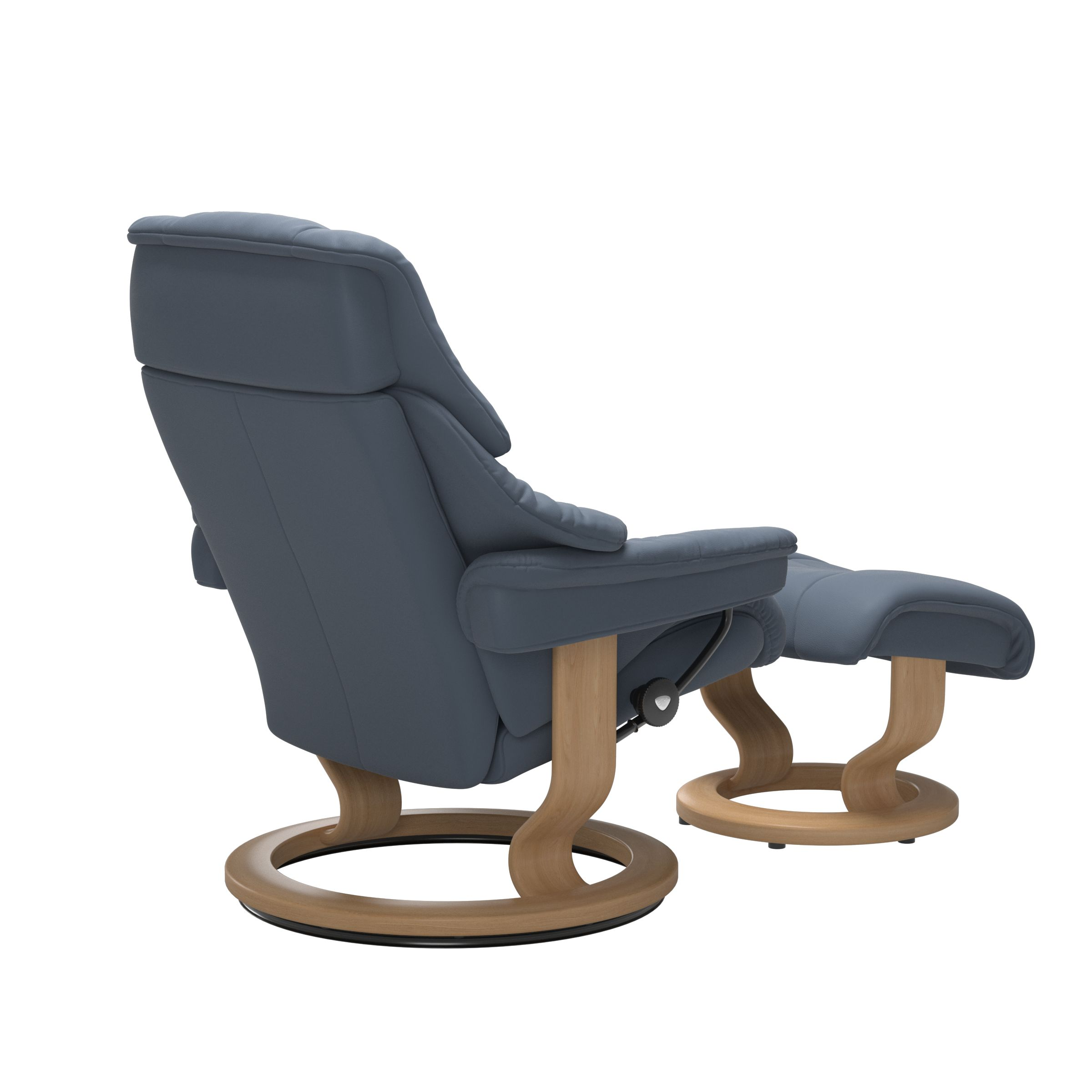Stressless Reno Sparrow Blue Large Recliner
