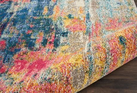 Celestial Rug CES09 Blue Yellow