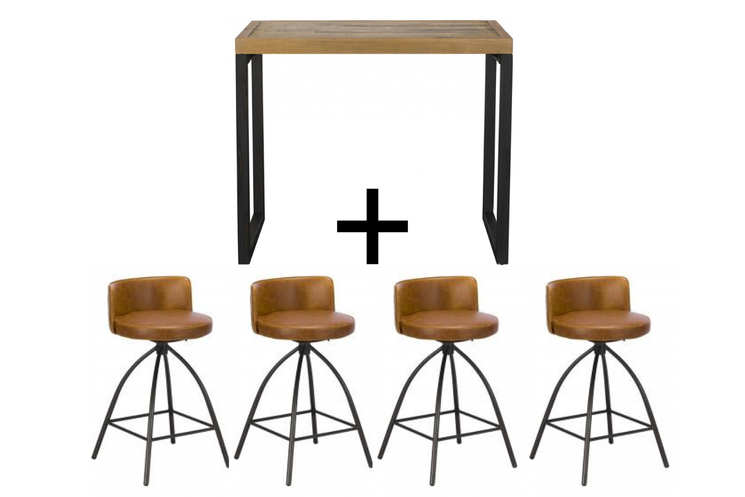 Ford Bar Table & 4 Dylan Bar stools - Bundle Deal