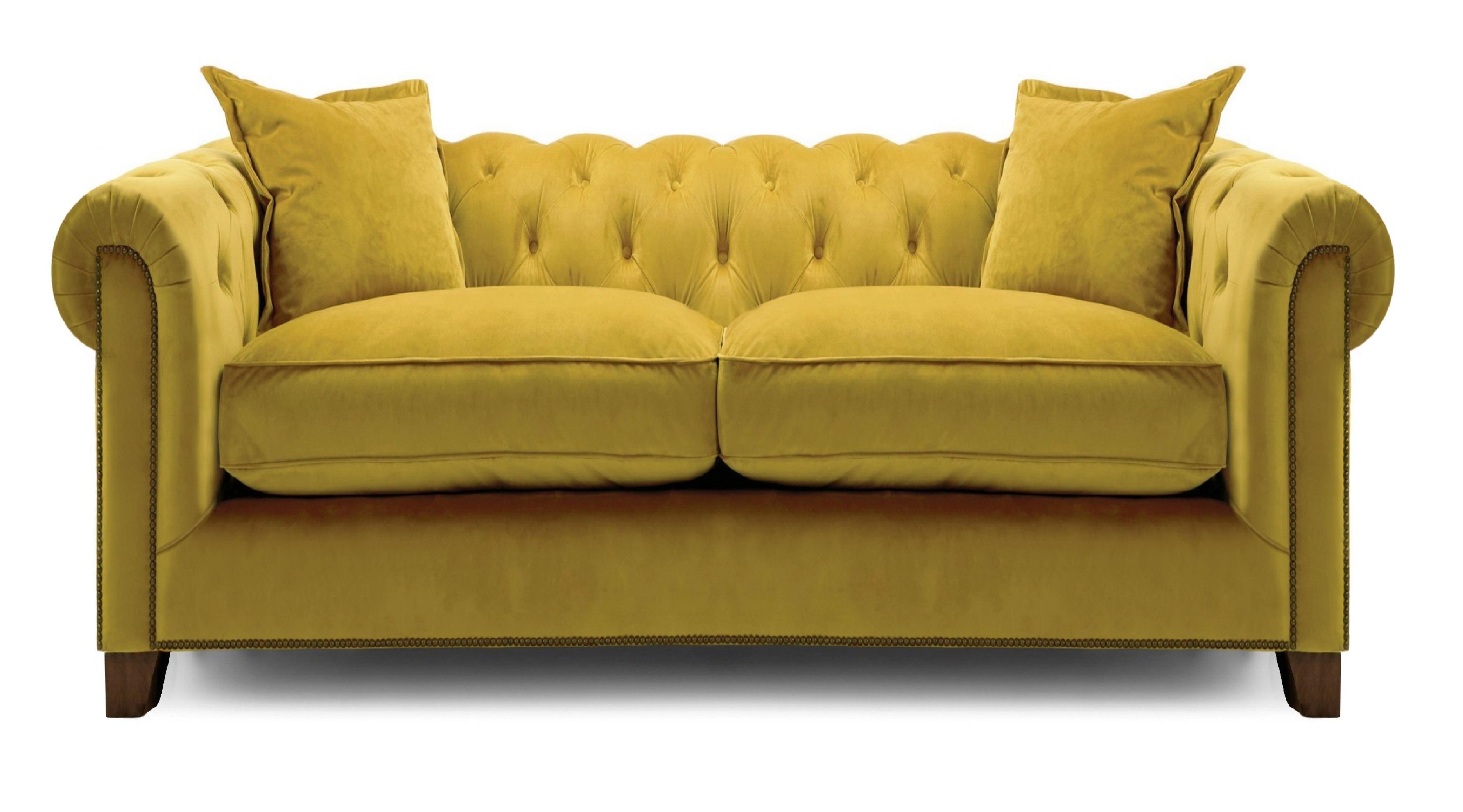 Kennedy 3 Seater Hermit Sofa - Mustard