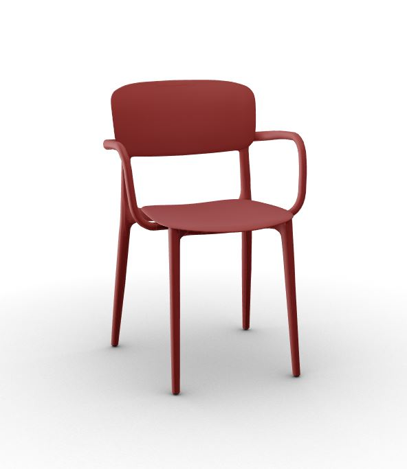 Calligaris Liberty Arm Chair - Matt Oxide Red