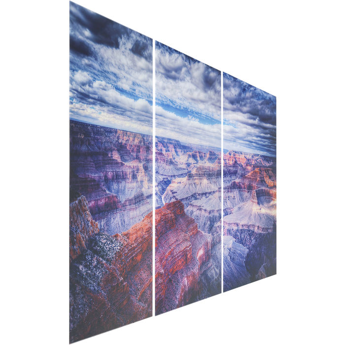 Glass Triptychon Grand Canyon Picture