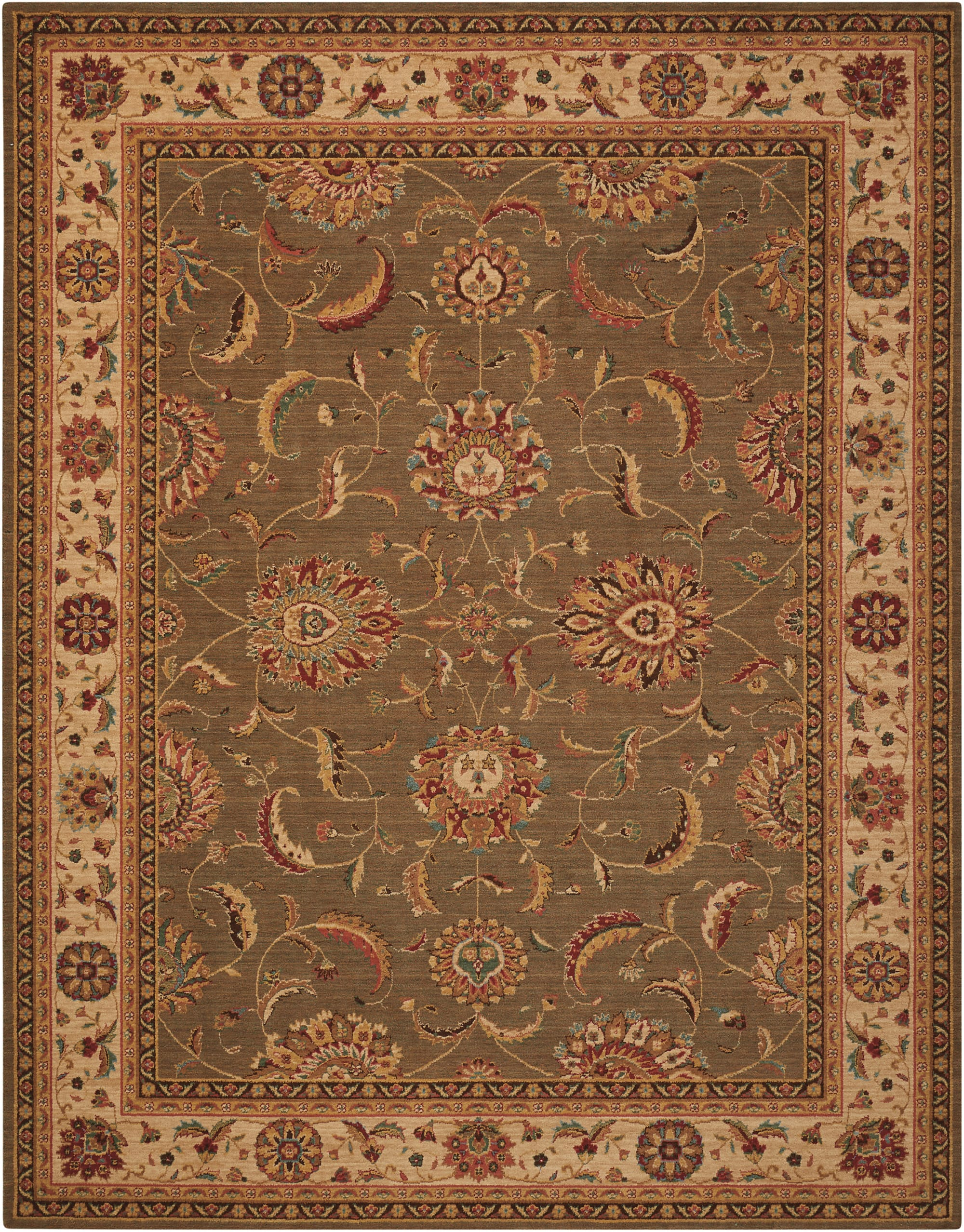 Living Treasures Rug LI04 Green