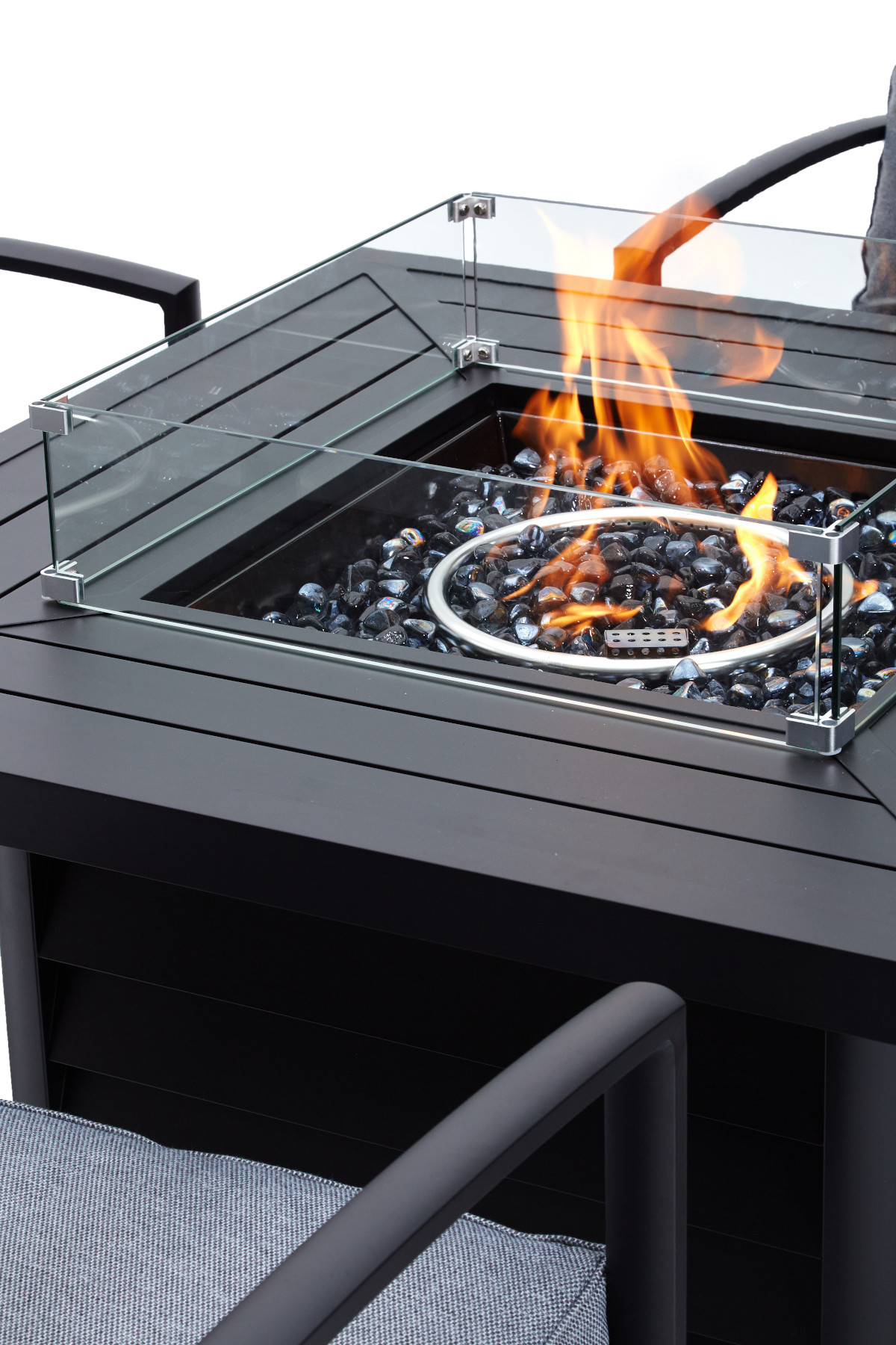 Derby Lido Square Fire Pit Set