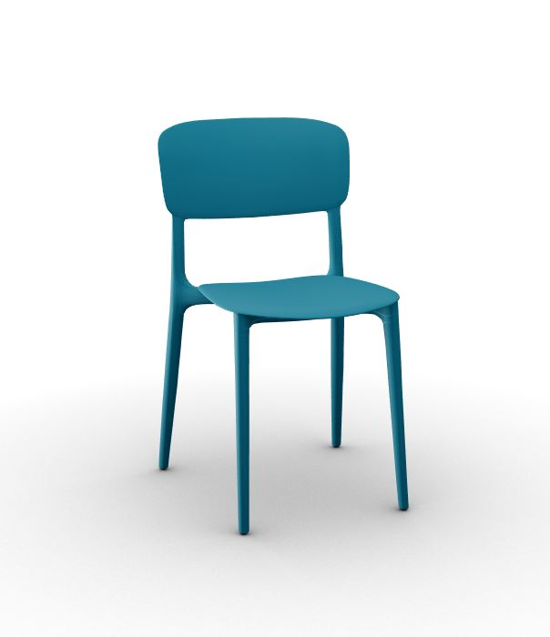 Calligaris Liberty Chair Petrol Blue