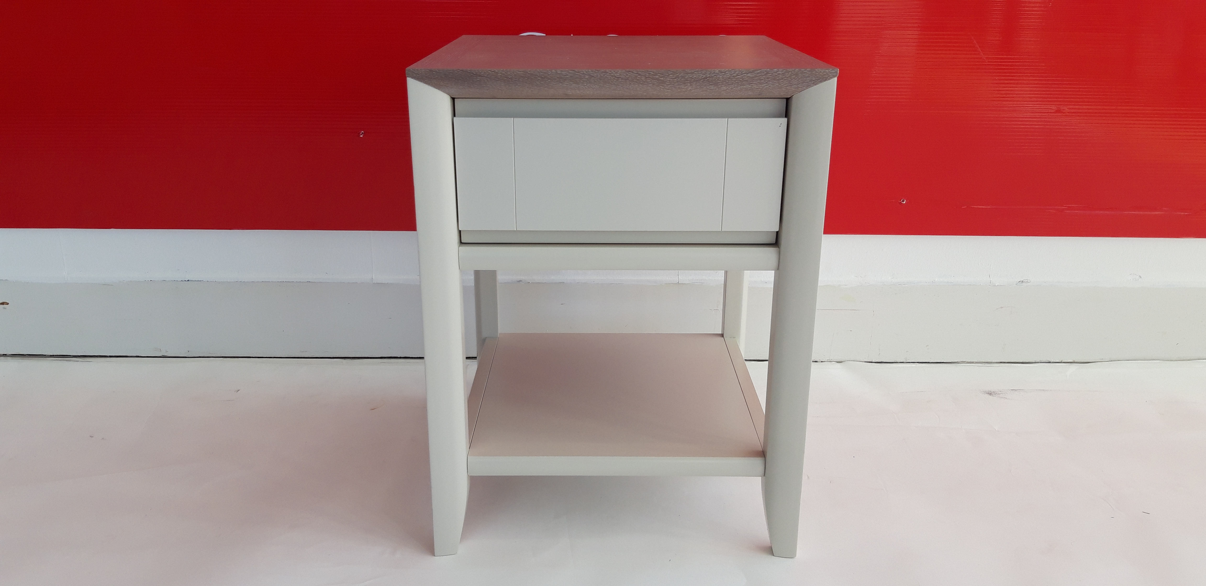 Oakley Grey Lamp Table With Drawer - OUTLET