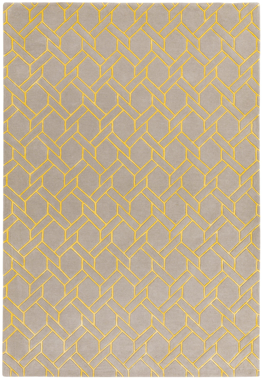Nexus Rug Fine Lines Silver/Yellow