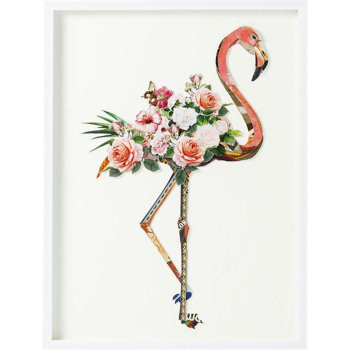 Floral Flamingo Frame