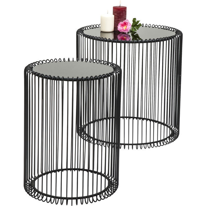 Wired Black Side Table