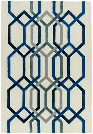 Matrix Rug Hexagon White