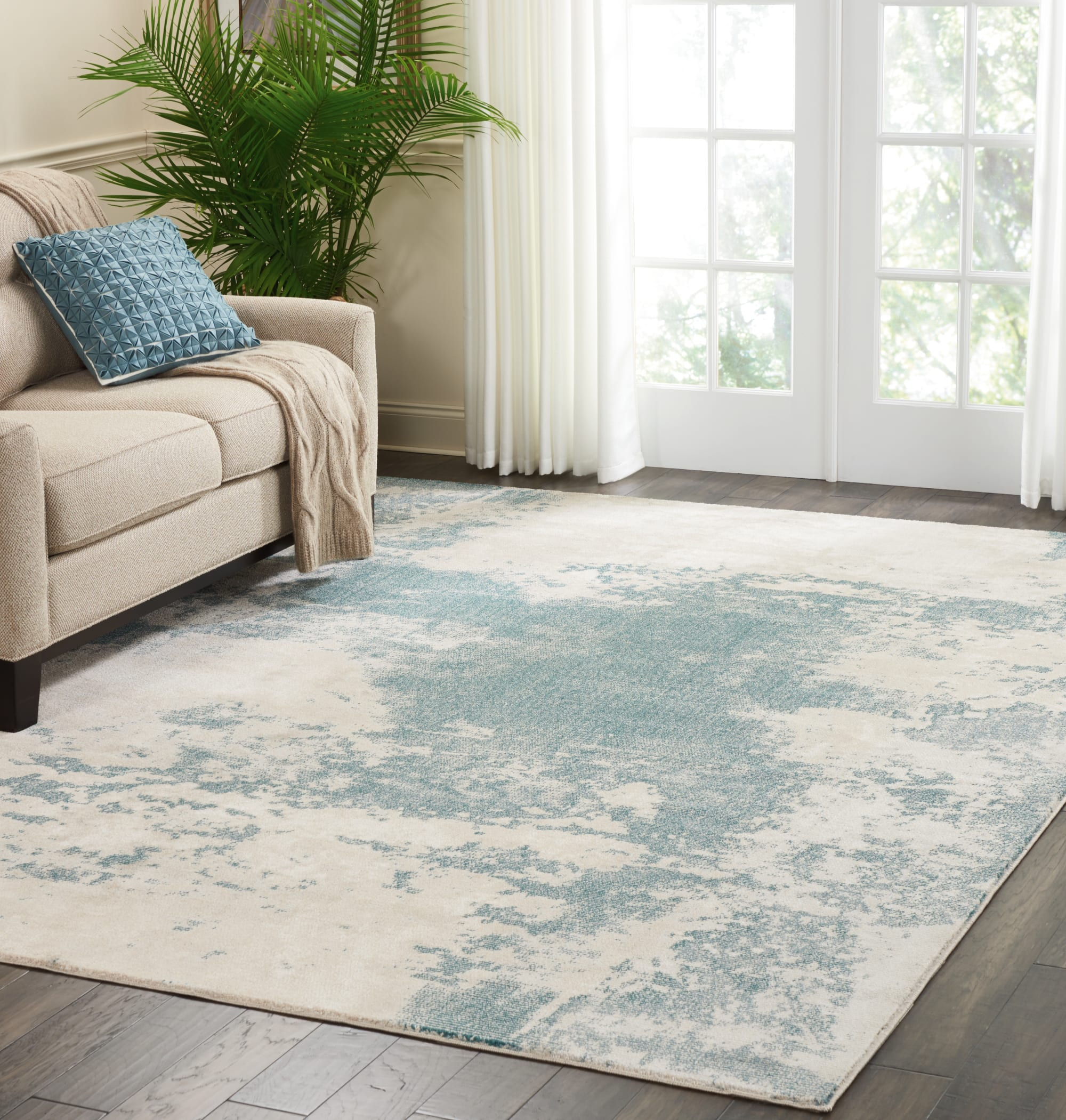 Maxell Rug MAE13 Ivory/Teal