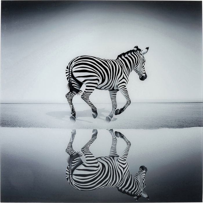 Glass Savanne Zebra Picture