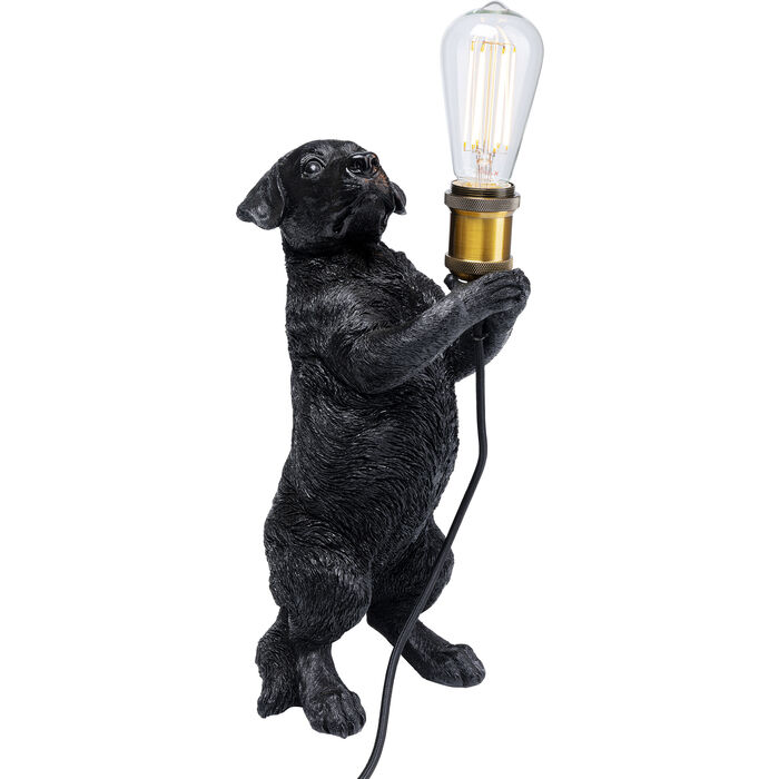 Black Puppy Table Lamp
