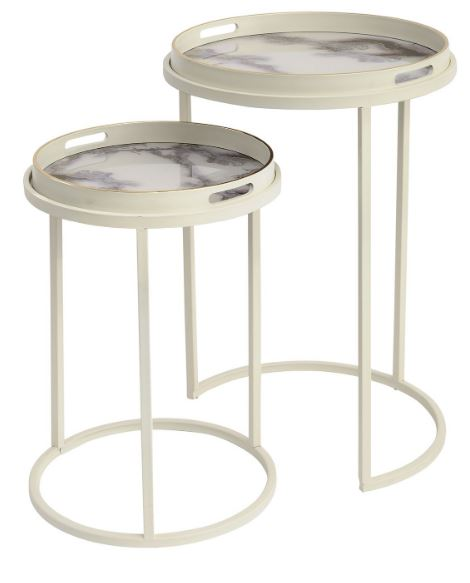 Marino Marble Effect Tables
